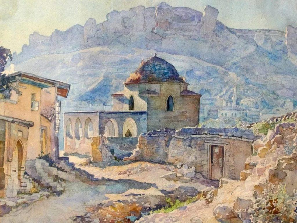Вид старого Бахчисарая на картине
